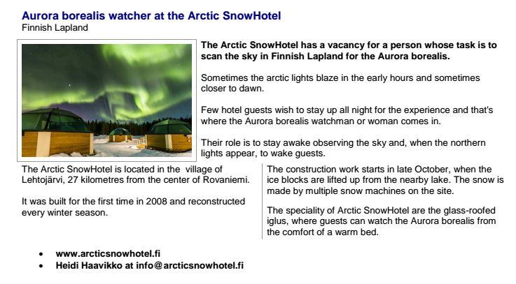 Northern Lights Job want ad